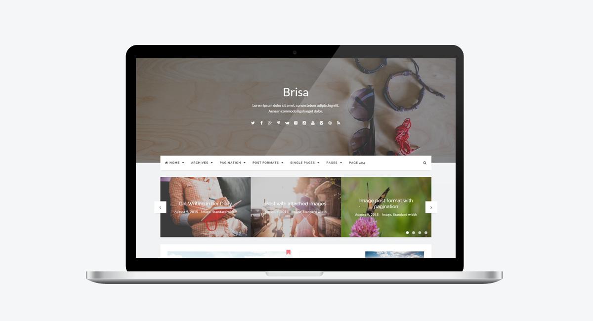 Brisa - Responsive WordPress Blog Theme / Laptop