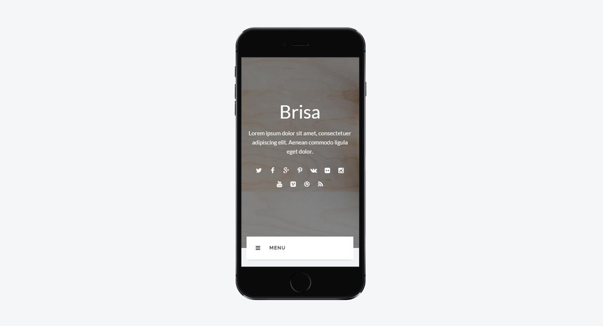 Brisa - Responsive WordPress Blog Theme / Mobile