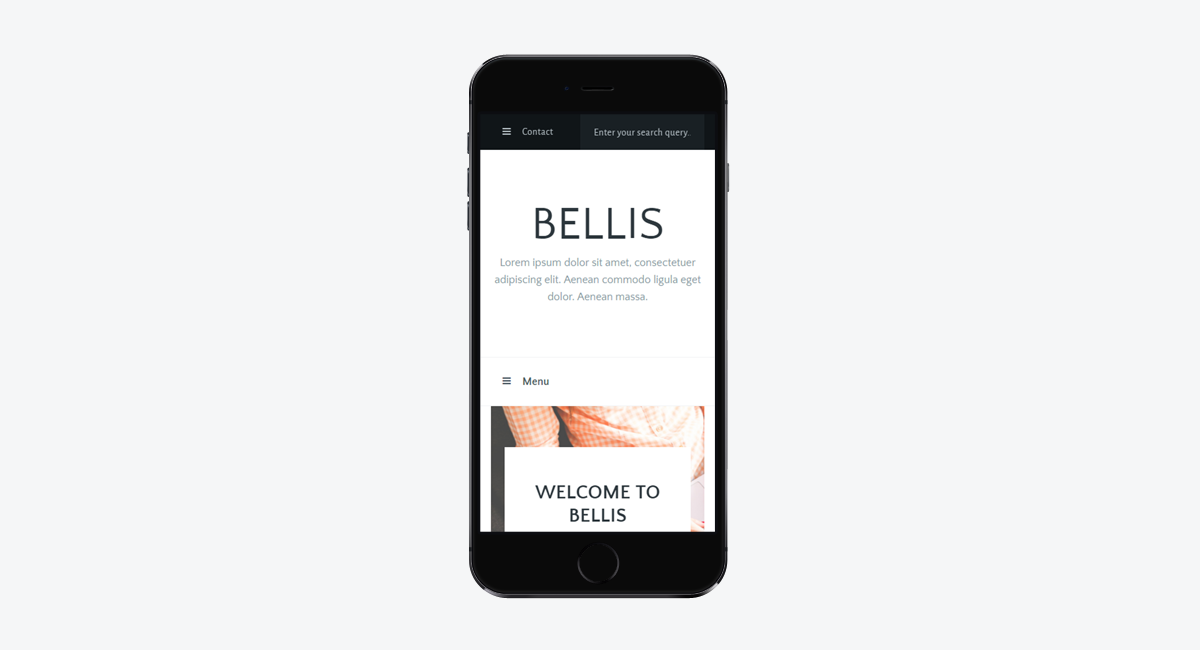 Bellis - Simple and Clean WordPress Blog Theme / Mobile