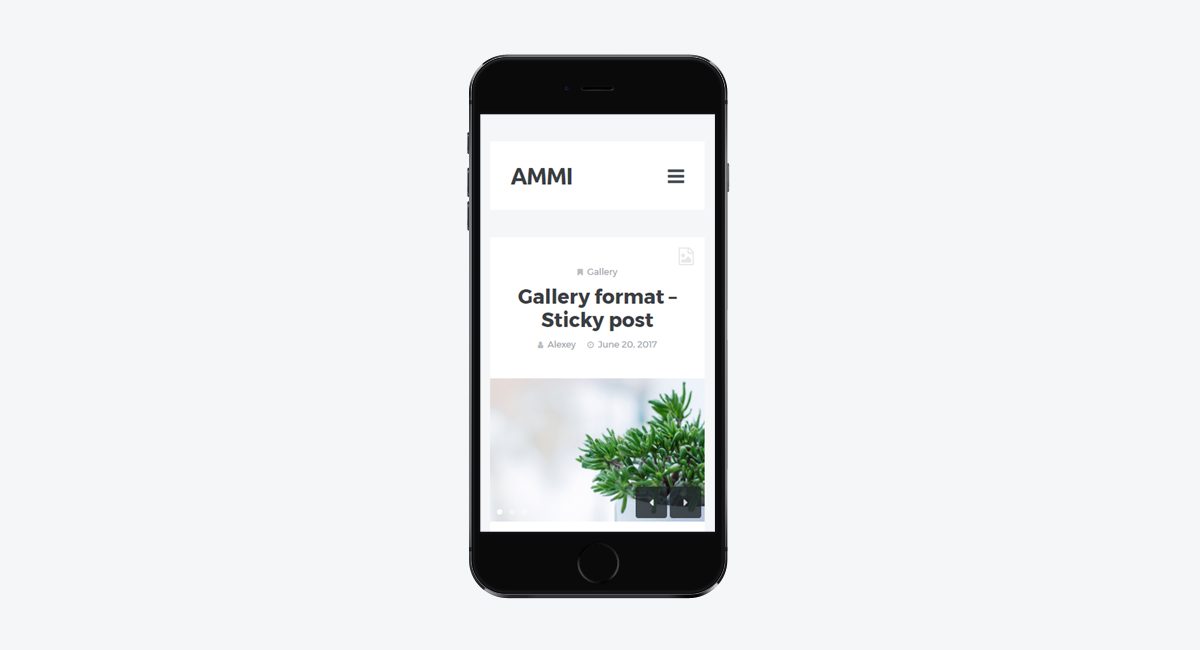Ammi - Minimalist WordPress Blog / Mobile