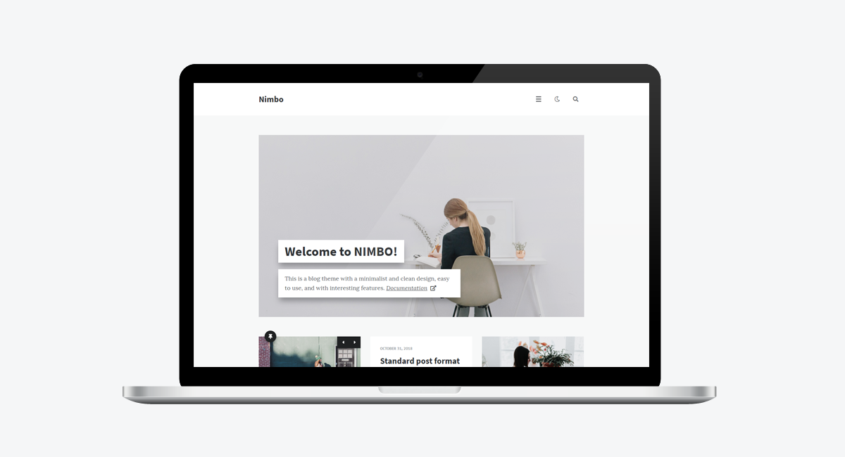 Nimbo - Personal WordPress Blog Theme (Laptop)