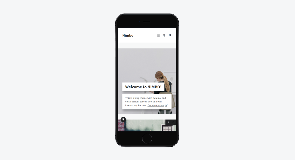 Nimbo - Personal WordPress Blog Theme (Mobile)